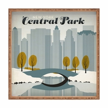Central Park Snow Square Tray