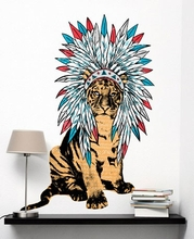 Ceremonial Tiger Wall Decal