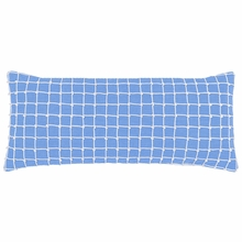 Chadna French Blue Rectangular Pillow