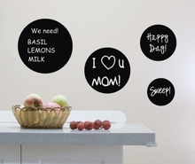 Chalkboard Circle Set of 4 Wall Decal
