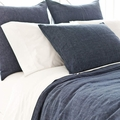 Chambray Linen Euro Sham in Ink