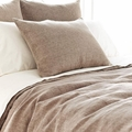 Chambray Linen Standard Sham in Sable