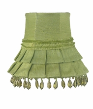 Chandelier Shade in Green with Dangle