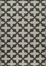 Charcoal Cross Baja Rug