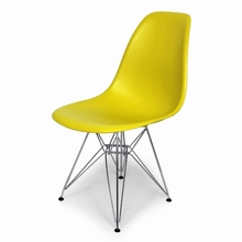 Chartreuse Mid-Century Eiffel Dining Chair