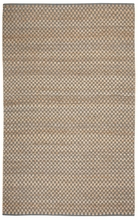Checkered Natural Jute Rug in Blue and Green