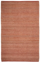 Checkered Natural Jute Rug in Clay