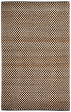 Checkered Natural Jute Rug in Ebony