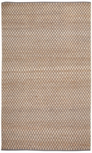 Checkered Natural Jute Rug in Silver