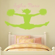 Cheerleader Splits Wall Decal