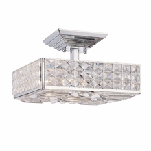 Chelsea Cut Crystal Polished Chrome Pendant