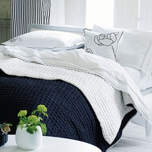 Chenevard Black & White Reversible Silk Quilt
