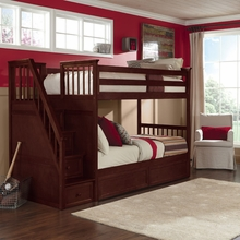 Merlot Kadyn Twin Bunk with Steps