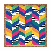 Chevron 6 Square Tray