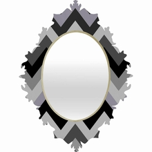 Chevron Black Baroque Mirror