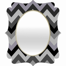 Chevron Black Quatrefoil Mirror