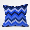Chevron Blue Throw Pillow