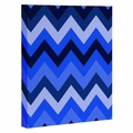 Chevron Blue Wrapped Canvas Art