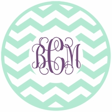 Chevron Interlock Monogram Car Decal