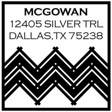 Chevron Personalized Self-Inking Stamp