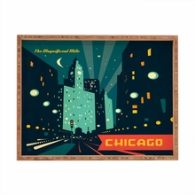 Chicago Mag Mile Rectangular Tray