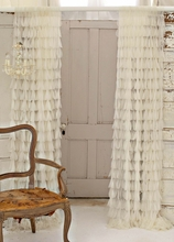 Chichi Ivory Solid Petal Window Curtain