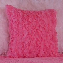 Chiffon Ruffle Throw Pillow
