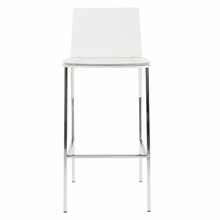 Chloe Bar Stool in Clear and Chrome - Set of 2