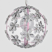 Chloe Gloss Pink Clear Crystal Flower Chandelier