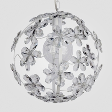 Chloe Matte White Clear Crystal Flower Chandelier