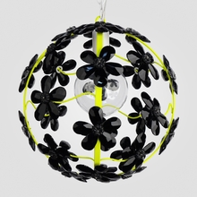 Chloe Neon Yellow Black Crystal Flower Chandelier