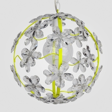 Chloe Neon Yellow Clear Crystal Flower Chandelier