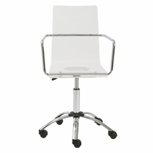 Chloe Office Chair in Clear and Chrome