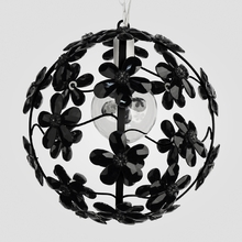 Chloe Satin Black Crystal Flower Chandelier