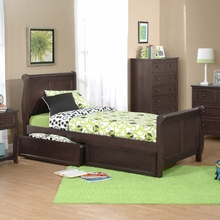 Cocoa Sleigh Bed