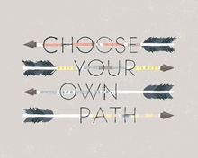 Choose Your Own Path Poster Wall Decal