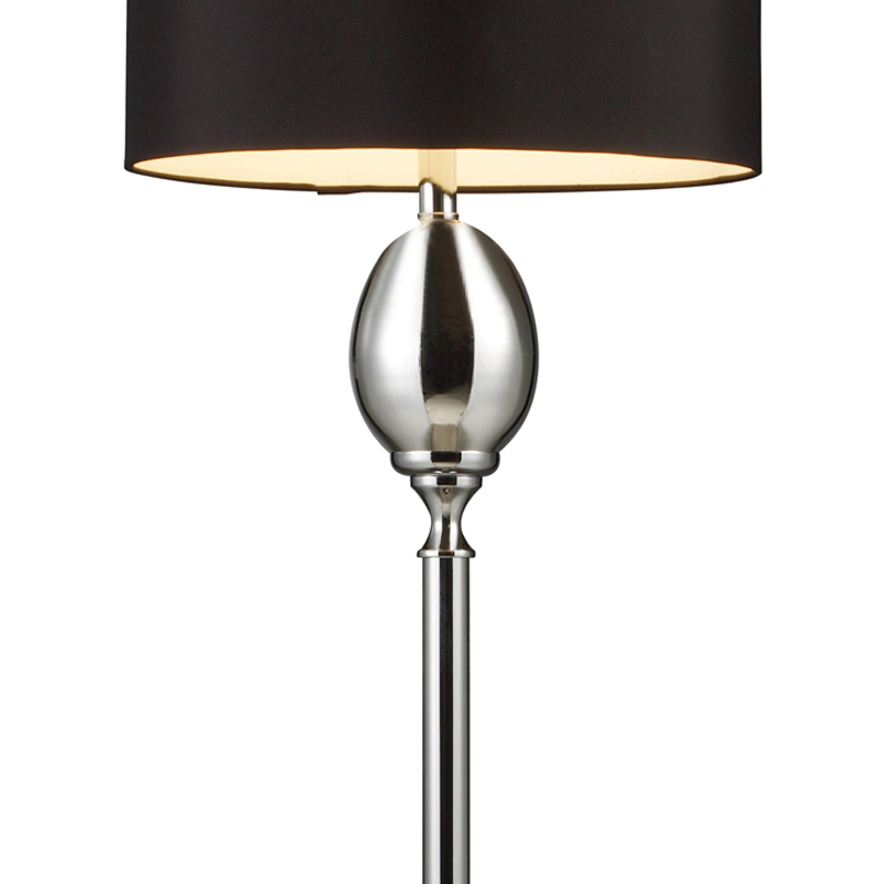 chrome plated glass floor lamp with black shade floor lamps. Black Bedroom Furniture Sets. Home Design Ideas