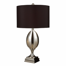 Chrome Plated Glass Table Lamp with Black Shade
