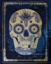 Chula Vista Skull Canvas Wall Art