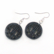 Circle Acrylic Monogram Earrings