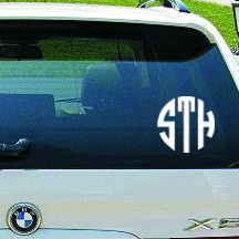 Circle Car Monogram Decal