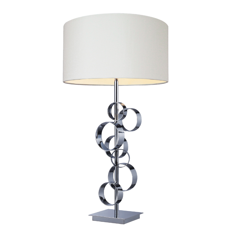 District17 circle chrome table lamp white shade lamps circle chrome table lamp white shade aloadofball Images