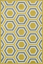Citron Honeycomb Catalina Rug