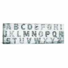 City Alphabet Canvas Wall Art