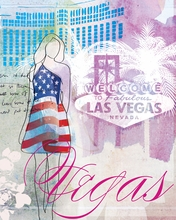 City Girl Las Vegas Canvas Wall Art