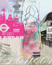 City Girl London Canvas Wall Art