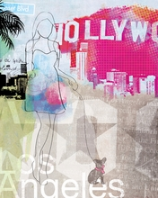 City Girl Los Angeles Canvas Wall Art