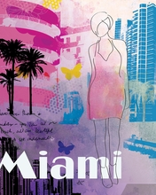 City Girl Miami Canvas Wall Art