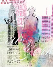 City Girl New York Canvas Wall Art
