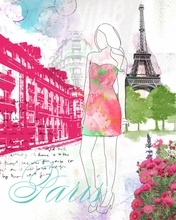 City Girl Paris Canvas Wall Art
